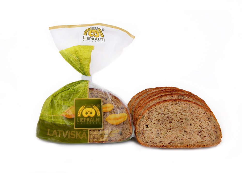 Latvian fine rye-bread with seeds